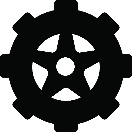 Black Winter Tire Icon